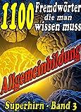 1100 Fremdwörter die man wissen muss - Reihe SUPERHIRN, Allgemeinbildung Band 3: Mit Begeisterung, Idealismus und Ausdauer erfolgreich zu Anerkennung. ... (Allgemeinwissen erweitern mit - SUPERHIRN)