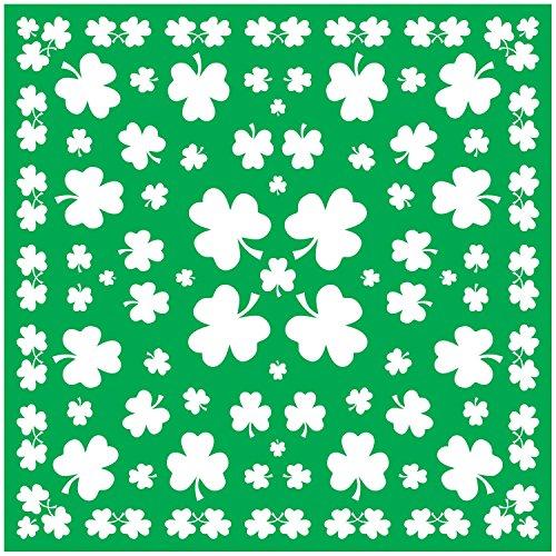 Kostüme Motto Irland (Irland Party Haltuch mit Kleeblättern. 12er)