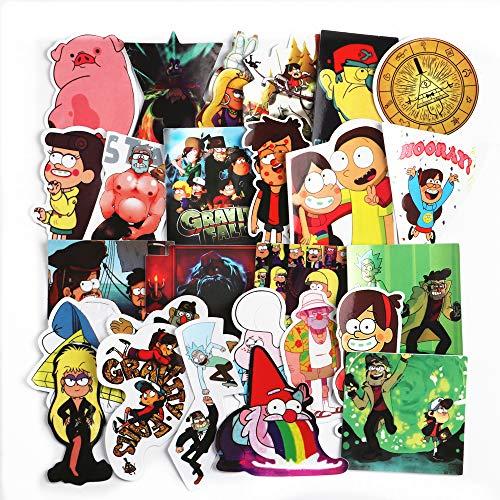 hongliu Cartoon Anime Sticker Pack wasserdichte Laptop Fall Box Fahrrad Auto Cup Aufkleber 25 Stücke Cup-fall-pack