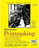 Pro-Art Strathmore Printmaking Paper Pad 8-inch x 11-inch, 40 Sheets