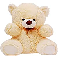 CLICK4DEAL Soft 2 Feet Long Teddy Bear - 60 Cm -Cream