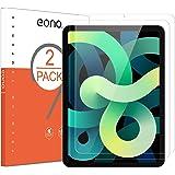 Amazon Brand - Eono [2 Piezas] Protector de Pantalla para iPad Air 4 10,9 Pulgadas/iPad Air 2020,Cristal Templado, Sin despeg