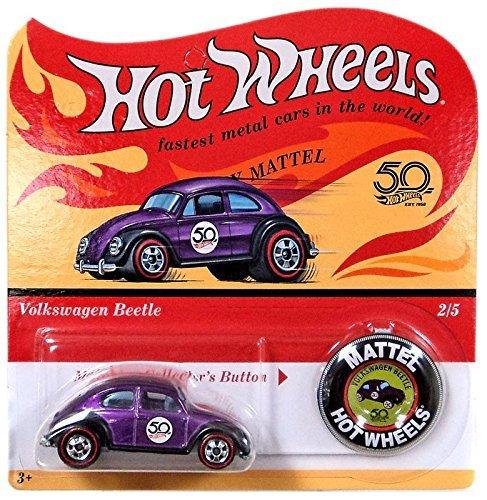 Hot Wheels 2018 50th Anniversary Originals 2/5 - Volkswagen Beetle (Purple) with Button (Original Hot Wheels)