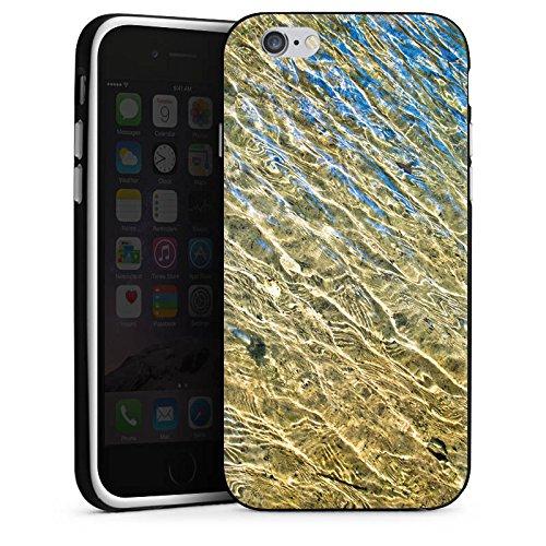 Apple iPhone 4 Housse Étui Silicone Coque Protection Eau Water Structure Housse en silicone noir / blanc