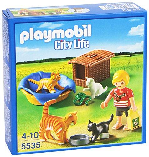 Playmobil Veterinaria - Familia de Gatos con Cesta