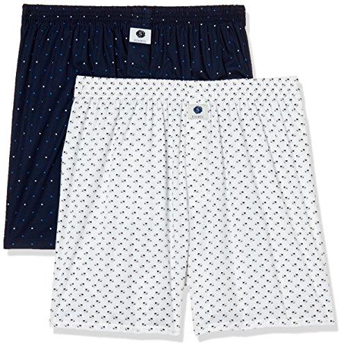 Amazon Brand - Symbol Men's Printed Boxers (Pack of 2)(SYMBXPO2-17_3411 & 3806_Multicolor_Large)