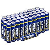 Varta Mignon AAA/LR03  Batterie con Varta Power Bank 5200 mAh, Pack 40 pezzi