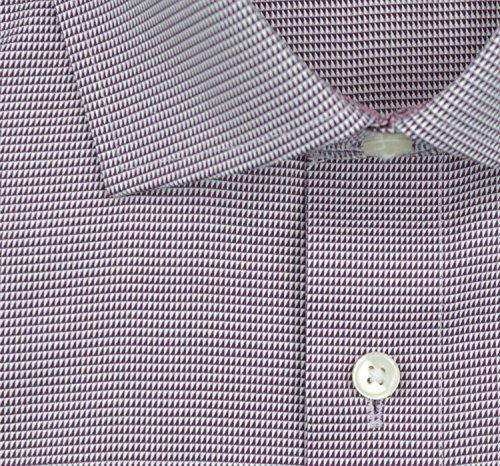 OLYMP Modern Fit Hemd Langarm New Kent Kragen Patch Muster lila Lila