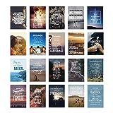 VISUAL STATEMENTS Postkartenset Freundschaft; mit 20 Postkarten - Karten mit verschiedenen Sprüchen; schöne Spruchkarten im Set; hübsche Motivkarten - Postkarten in XXL – eine schöne Geschenkidee