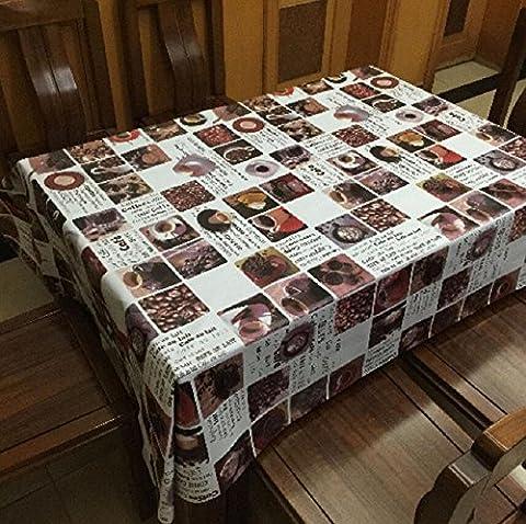 GY&H Rectangle Couvercle de table Nettoyer la nappe de PVC propre Imperméable à l'eau / imperméable à l'eau Manteau résistant aux taches et au mildiou