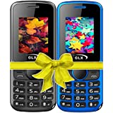 GLX W5, Basic Feature Mobile Phone, Combo Of 2 (Blue+Black)
