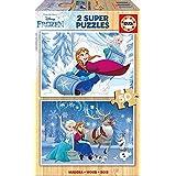 Frozen - Puzzle de madera, 2 x 50 (Educa Borrás 16802)