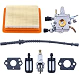 Adefol Carburateur Luchtfilter Bougie Kit Voor Stihl FS350 FS300 FS250 FS120 FS200 R FS020 FS202 Vervanging Deel Brandstof Fi