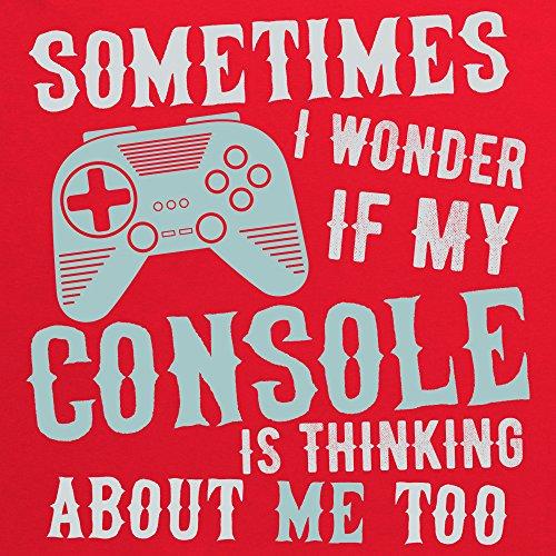 I Wonder If My Console T-Shirt, Herren Rot
