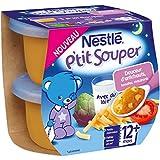 Nestlé Bébé P'tit Souper Douceur d'Artichauts Tomates Macaronis - Plat Légumes et Féculents dès 12 Mois - 2 x 200g - Lot de 6