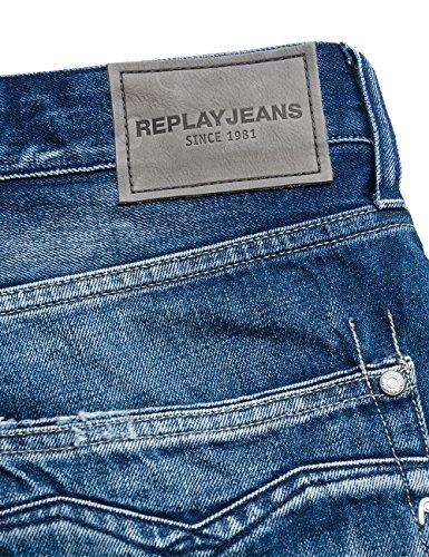 Replay Herren Jeanshose Newbill Blau (Light Blue/ Destroyed 9)
