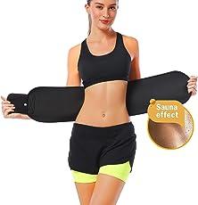 Frackkon Shaper Belt, Slimming Belt, Waist Shaper, Tummy Trimmer, Sweat Slim Belt, Belly Fat Burner, Stomach Fat Burner, Super Stretch, Unisex Body Shaper for Men & Women Sizes- XXXL,