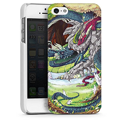 Apple iPhone 6 Housse Étui Silicone Coque Protection Dragons Imagination Arbres CasDur blanc