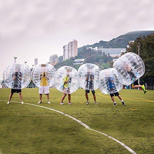 amazingsportstm 6bolas burbujas pelotas de fútbol traje barato Dia 5De 1,5M para adultos PVC transparente (1,2m 1,7m disponible)