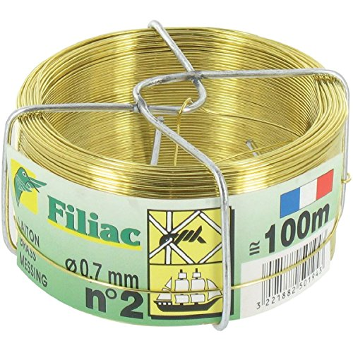 FIL LAITON 0.8MM NO3 BOBINE 50M