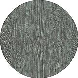 Werzalit Tischplatte, Dekor eiche gekalkt, rund 60 cm