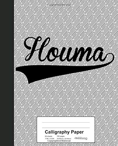 Calligraphy Paper: HOUMA Notebook (Weezag Calligraphy Paper Notebook, Band 3044)