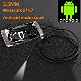 DZT1968 Waterproof 6 LED 5.5MM Lens Endoscope Endoscopes Inspection Camera For Android Phone (1 M)