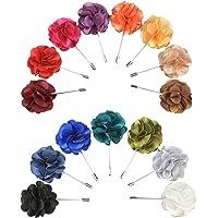 Soleebee YM028 Misto Casuale Set Fiore Spilla da Uomo Fiore Forma con Revers Pin Fiore all'occhiello Bastone Spilla…