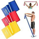 OMERIL Bande Elastiche Fitness (3 Pezzi), 2 m/ 1,5 m Fasce Elastiche con 3 Livelli di Resistenza, Fascia Elastica Esercizi Id