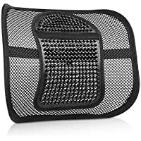 Back Support Cushion, Air Flow Mesh Back Cushion Lumbar Support for for Car Home Office Chair, Chair Back Lumbar Support Cushion Relieve Back Sciatica and Tailbone Pain (Black -2)