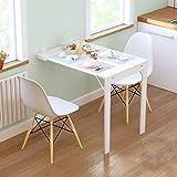 Table Murale Rabattable avec Etagére Intégrée Table Murale Rabattable Suspendue sur Pied étagère, Table à Manger de Cuisine É