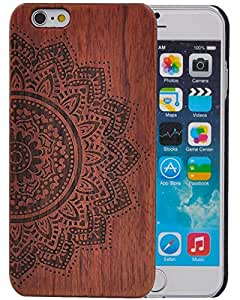 XIKEZAN Unique Real Handmade Natural Wood Wooden Hard Bamboo Shockproof Case For iPhone 6 6S (4.7) (M)