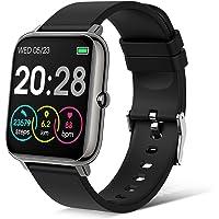 Judneer Smartwatch, Fitness Armbanduhr Sportuhren Voller Touch Screen Wasserdicht Bluetooth Smart Watch Schwarz, Fitness…