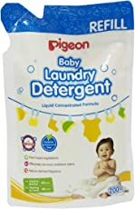 PIGEON Baby Laundry Detergent Refill, 200ml, White/Red