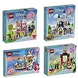 Lego Disney Princess 4er Set 41151 41152 41153 41154 Mulan + Dornröschens Märchenschloss + Arielles königliches Hochzeitsboot + Cinderellas Traumschloss