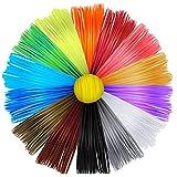 15 Ricambi Filamenti per Stampante 3D PLA Colori Atossici per Penne 3D, 1,75 mm – 15 Colori in Totale da 3 Metri Ciascuno