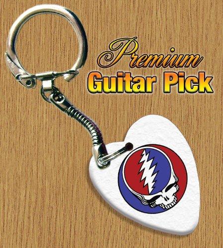 Grateful Dead Schlüsselring Bass Guitar plektron Both Sides Printed (Gitarren Pick Grateful Dead)