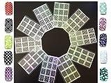 10 Sheets NAIL ART SELBSTKLEBENDE SCHABLONEN Amanda Nagelkunst Schablonen Nagelfolie / Aufkleber für Nagellack, Airbrush, Glitter