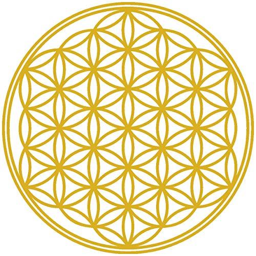 25 Leben (Samunshi® Wandtattoo Blume des Lebens in 8 Größen und 25 Farben (30x30cm goldmetalleffekt))