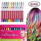 Best Tizas para el cabello - tizas para el pelo niña, 12 colores Set Review