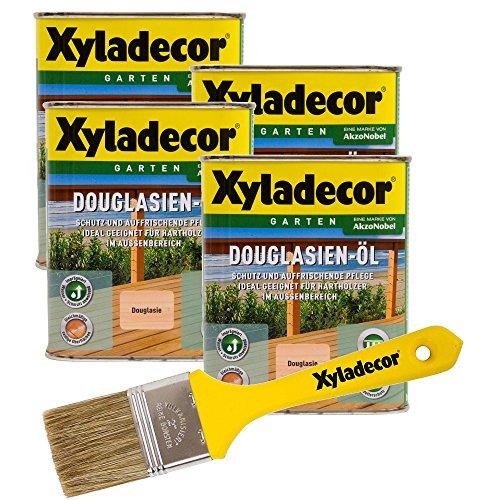 Xyladecor Douglasien-Öl, 3 l, helles Hartholz Plege- und Imprägnier Öl für Douglasie, Eukalyptus, Eiche, Robinie und Zeder