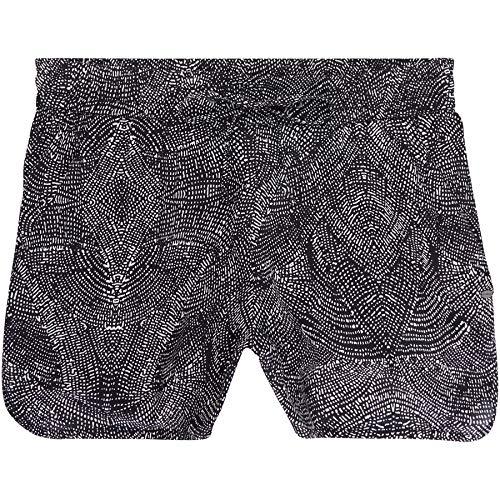 O'Neill Damen LW M and M Beach Shorts, Schwarz All Over Print/Weiß, XL -