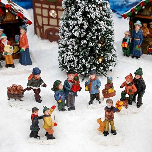 Miniatur-Weihnachtsdorf-Winterfiguren Schneespaß, 6er-Set