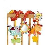 StillCool Bambino Passeggino Giocattoli, Passeggino giocattolo e attività Clip a spirale su carrozzina e passeggino con campa