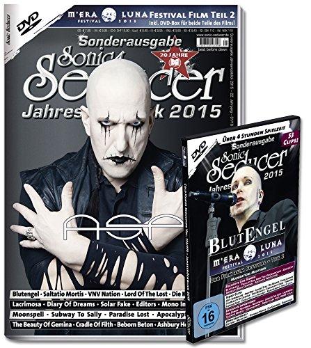 Sonic Seducer Jahresrückblick 2015 + DVD: M'Era Luna 2015 - Der Film, Teil 2, über 50 Clips, mehr als 4 Std., Bands: ASP (Titel), Blutengel, Saltatio Mortis, VNV Nation u.v.m.