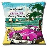 'Welcome to Teneriffa' Kanaren Inseln Klassisches Auto Strand - 16