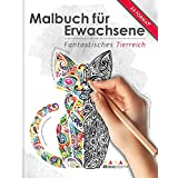 Malbuch für Erwachsene: Fantastisches Tierreich (Kleestern®, A4 Format, 40+ Motive) (A4 Malbuch für Erwachsene)