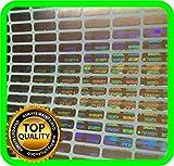 1050 St. Hologramm Etiketten, Siegel, Garantie, Aufkleber tamper evident 12x4mm