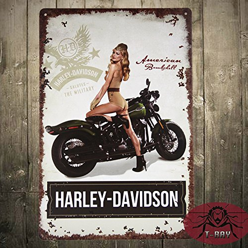 t-ray-pin-up-girl-motorrad-biker-metall-blechschild-mancave-garage-club-shop