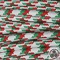 Textilkabel Stoffkabel grün / rot Stern 3-adrig rund
